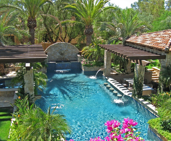40 best spaces pools spas images on pinterest pool for Garden pool in arizona