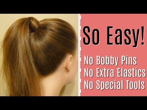 How To Wrap Hair Around A Ponytail