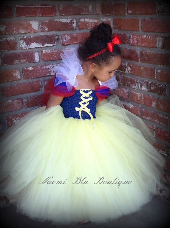 Storybook Disney Snow White Inspired Tutu dress glitter elastic headband. Great for costumes, photos, themed birthday on Etsy, $65.00