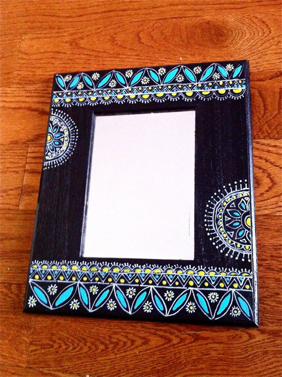 Hand painted Mirror with intricate designs by sukhu on Etsy, $25.00