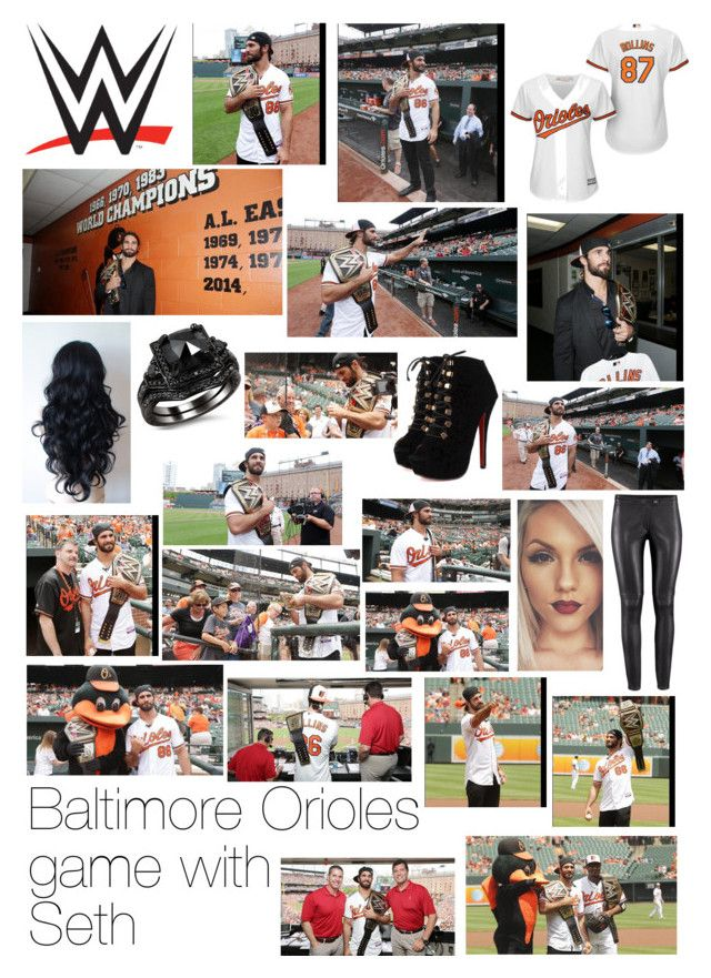 """""""Baltimore Orioles game with Seth"""" by wwediva72 ❤ liked on Polyvore featuring Majestic Athletic and WWE"""