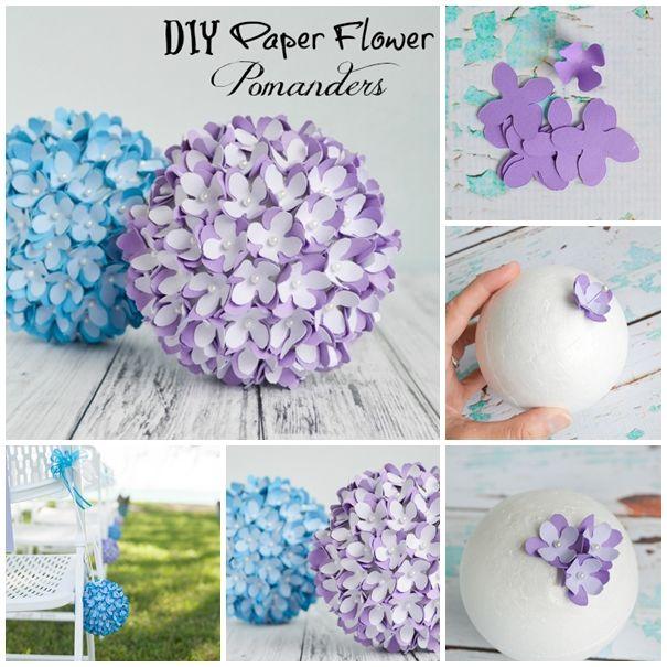 Pretty Wedding Pomanderkissing Ball Diy Crafts Paper