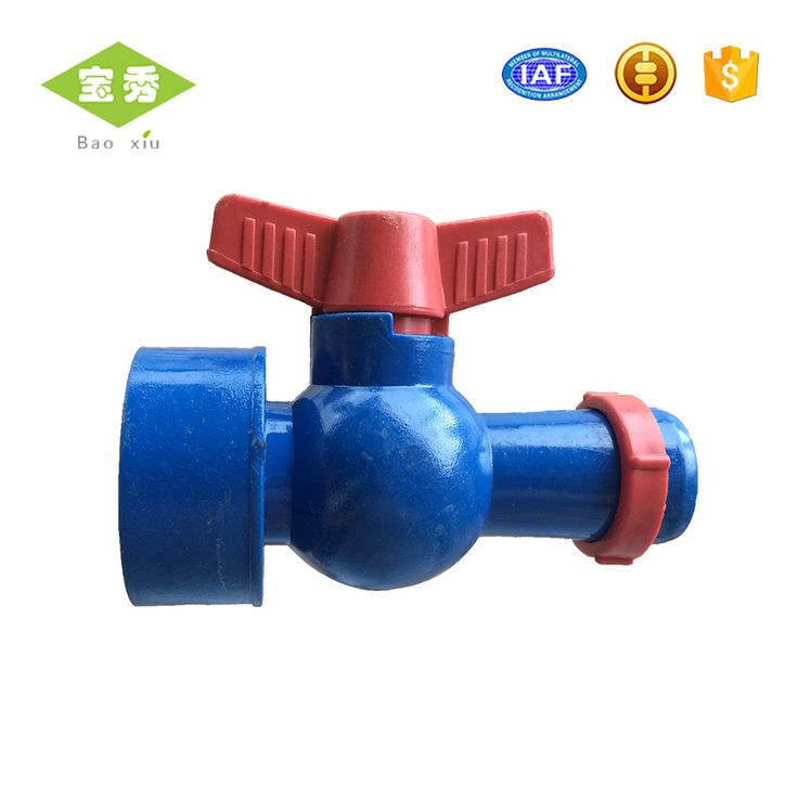 Plastic water offtake Valve For PE / PVC Lay Flat sprinkler hose