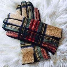 Plaid Glove are TOUCH screen!! Original Plaid