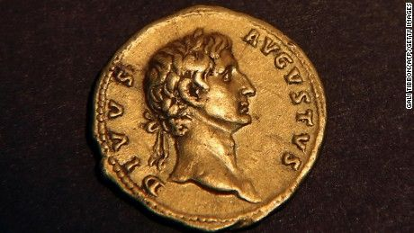 A woman hiking in eastern Galilee has discovered 2,000-year-old gold coin that bears the face of a Roman emperor. Only one other such coin is known to exist.