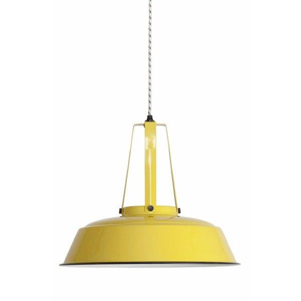 Przemysłowa emaliowana lampa Workshop L HK LIVING - żółta
