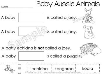 Australia for Kinder Kids has 50 fun Language and Math 'Australia themed' printables, including: labeling Australian animals; Read, Roll and Write sight words; Sorting cvc words; O'clock time; Patterning; Counting by 2, 5 and 10 and using Tally Marks. There are also 36 illustrated Australia Word Wall cards. $