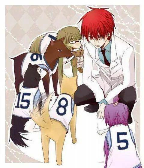 Akashi with his dog/?