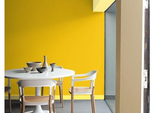1000 id es sur le th me jaune peintures murales sur for Salle a manger jaune moutarde