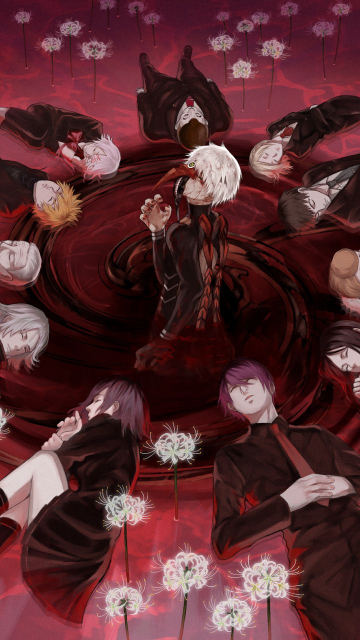 Tokyo ghoul anime all characters 720x1280 wallpaper