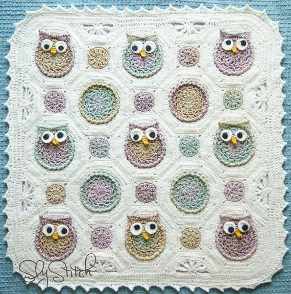 Crochet Owl Baby Afghan Pattern Dancox For
