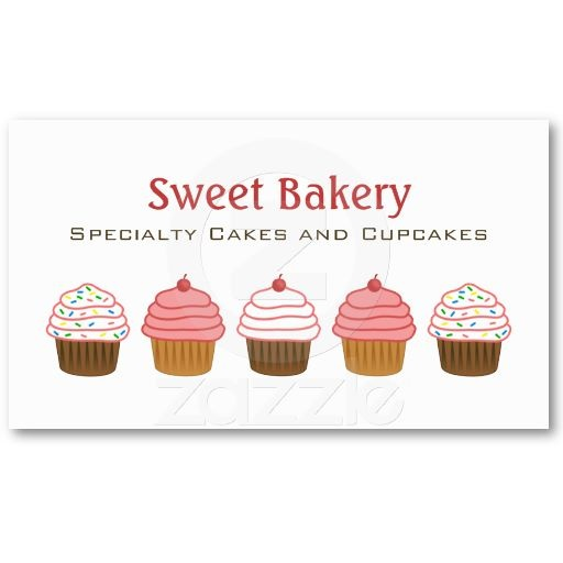 Best Cupcake Business Cards And Stickers Images On Pinterest - Cupcake business card template