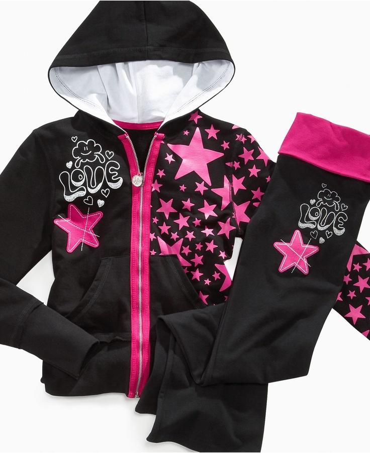 Hoodsbee Kids Pants, Girls Foldover Yoga Pants - Kids Girls 7-16 - Macy's