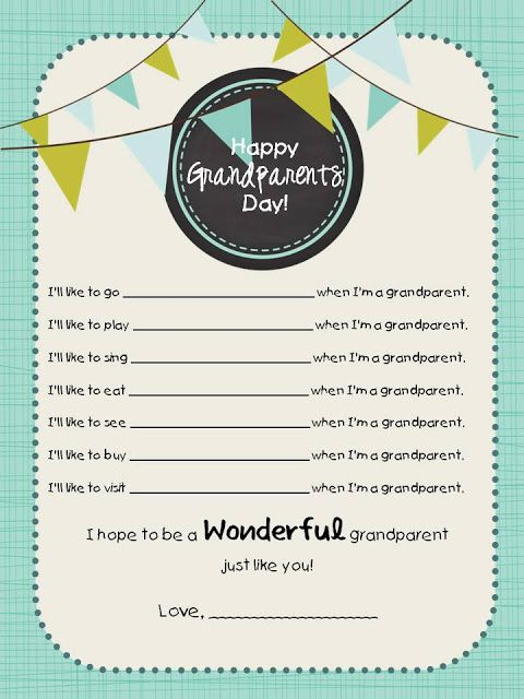 Grandparents Day Printable ~ Simply Sprout
