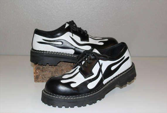 Vintage Skechers Flame Shoes 90 S Rocker Punk Club