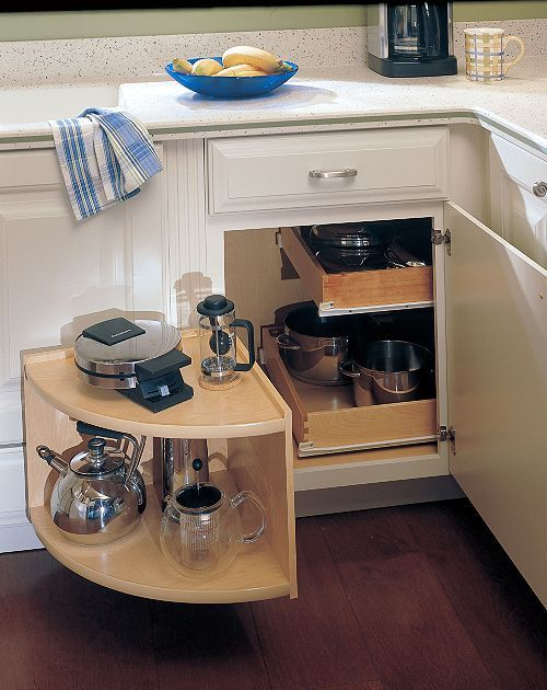 corner cabinet solution kitchen remodel - Kitchen Corner Cabinet Ideas