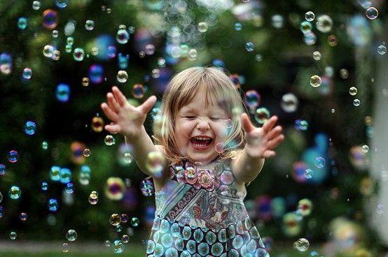 brincadeira com bolha de sabão