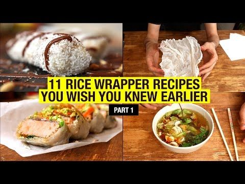 11 Recipes That Use Rice Paper Way Beyond Spring Rolls (part 1) - YouTube
