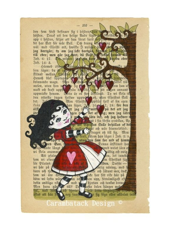 The little heart collector -  Art by Annette Mangseth