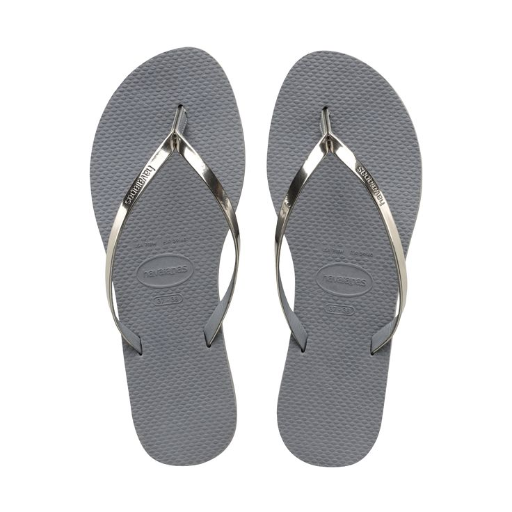 Women's Metallic Steel Grey You Flip Flop - Havaianas