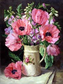 Ann Cotterill   OIL                          Oriental Poppies