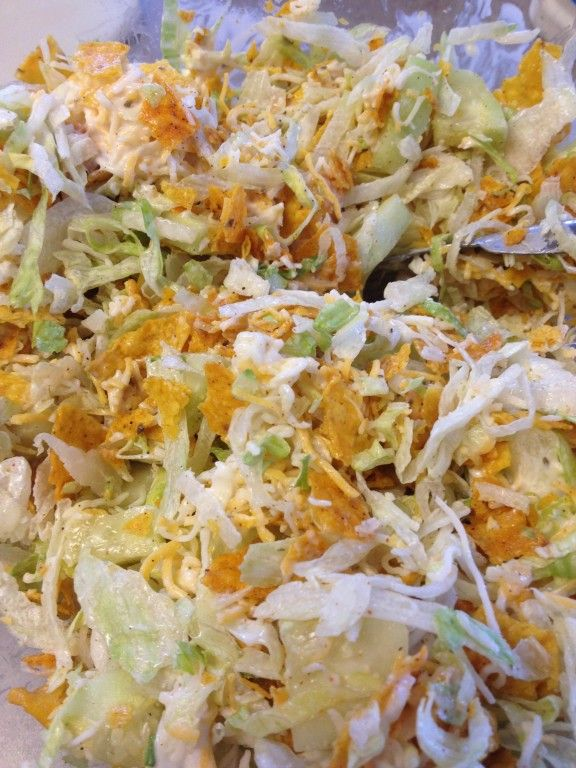 Tossed Cool Ranch Taco Salad - made with Doritos!