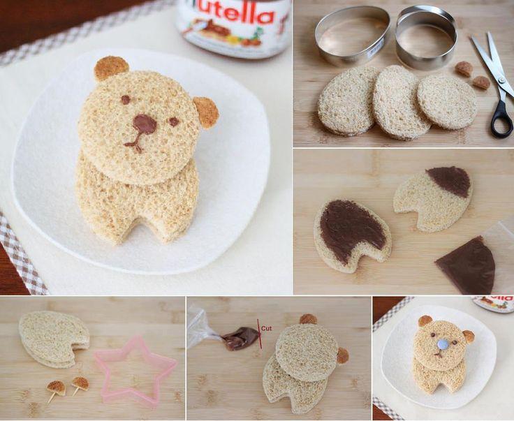 DIY Nutella Bear Sandwich DIY Projects | UsefulDIY.com
