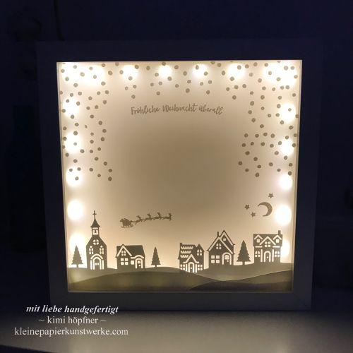 wunderschöne #weihnachtsdeko mit dem produktpaket #weihnachtendaheim selber machen #stampinup #christmas #selbstgemacht #weihnachten #ribbarahmen #dekoration #basteln