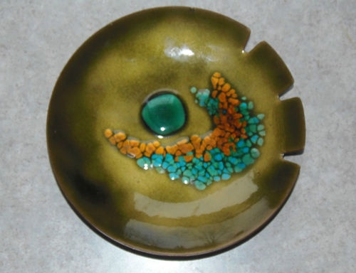 Vintage Bovano Handcrafted Enamel Copper Ashtray Made Cheshire Connecticut USA | eBay
