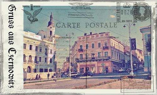 Greetings from Chernivtsi XIV (Postcard Imitated)