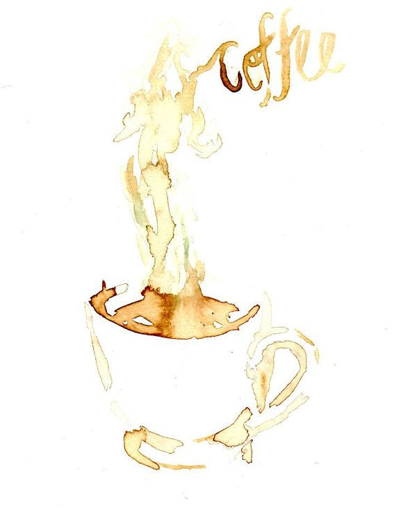Coffee by Jessica Buhman Print of Original by ArtbyJessBuhman, $25.00
