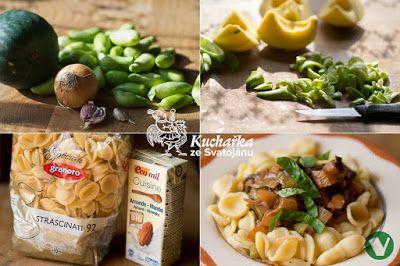 TĚSTOVINY S CUKETOU A AČOKČOU Kuchařka ze Svatojánu: Hlavní jídla