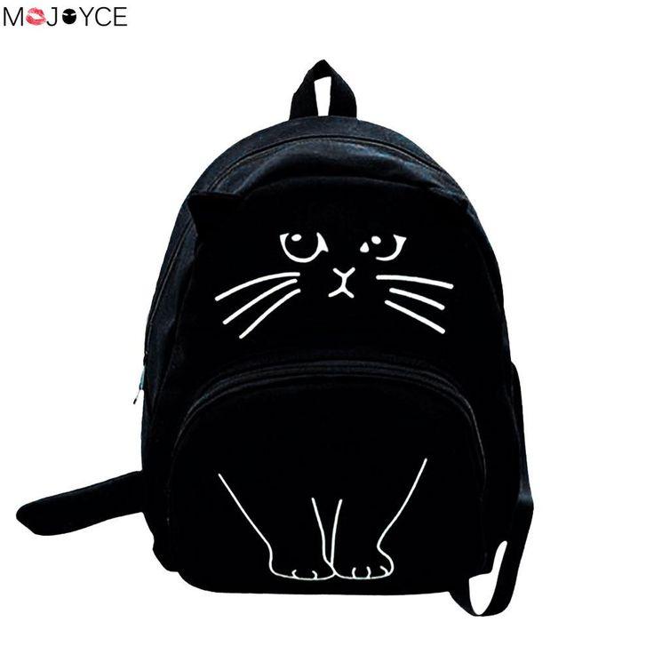 2017 Lovely Cute Cartoon Cat Backpack Girls Casual Students Canvas School Bag Ladies Travel Rucksack  EUR 7.35  Meer informatie  http://ift.tt/2r1lYEY #aliexpress