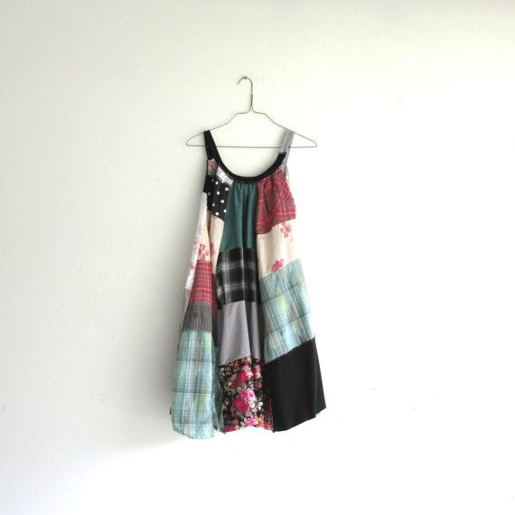 romantic Upcycled clothing / Patchwork Dress / Funky by CreoleSha, $94.00