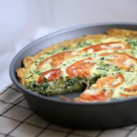 Recipe: Tomato Bacon & Spinach Quiche - This Gal Cooks