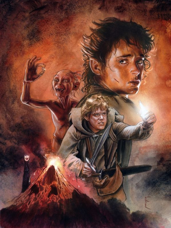 Lord of the Rings - Mount Doom - Hobbits - Gollum