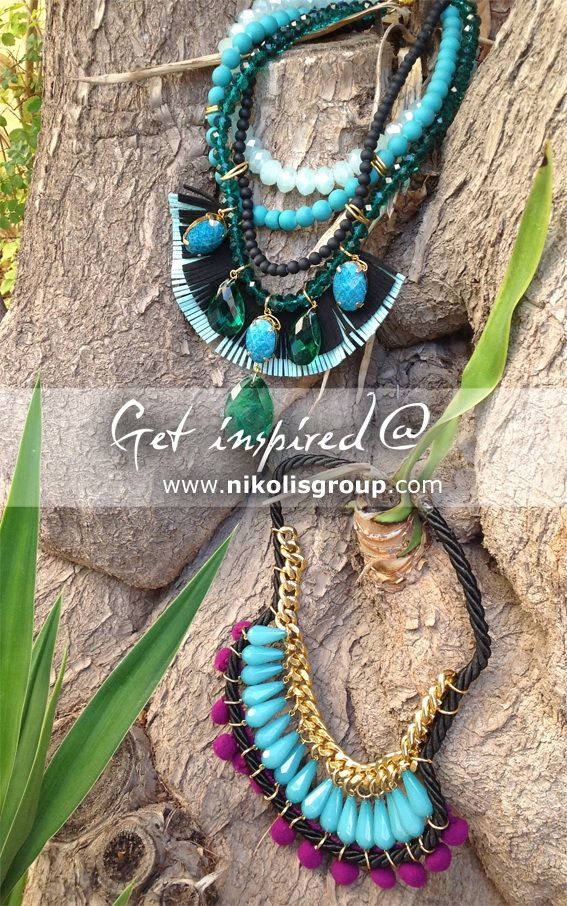 the hottest trend for this winter!You can easily create your own statement necklaces by choosing the colors and materials you most like @ www.nikolisgroup.com