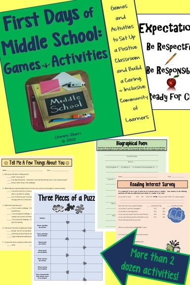 More than 2 dozen games & activities designed specifically for Middle School to foster a positive classroom environment & build a caring, inclusive community of learners! Build rapport with students while assessing learning styles, communication, interpersonal, & critical problem-solving skills and for effective grouping, enriching curriculum for gifted students, & scaffolding curriculum for struggling learners.   #backtoschool   #classroommanagement