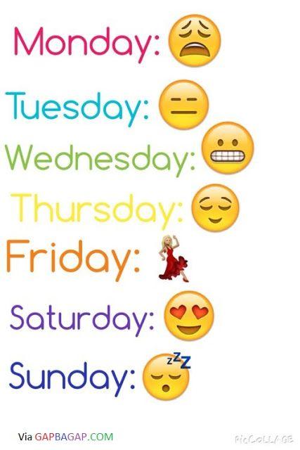 Hilarious Emoji Conversation About Life vs. A Week...