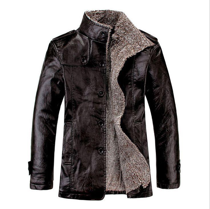 Кожаная куртка мужчины зимние куртки пальто загущающие шерсть водонепроницаемый теплый кожа мужчины ягненка шубу Большой размер 4XL Sanzetti