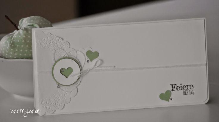stampin with beemybear: Geldgeschenkkarte, Envelope Punch Board, Hochzeit, Wedding