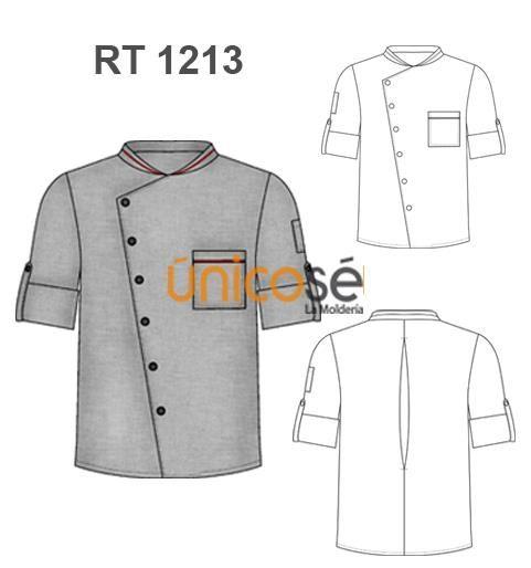 Chaqueta de Chef.  www.unicose.net                                                                                                                             Más