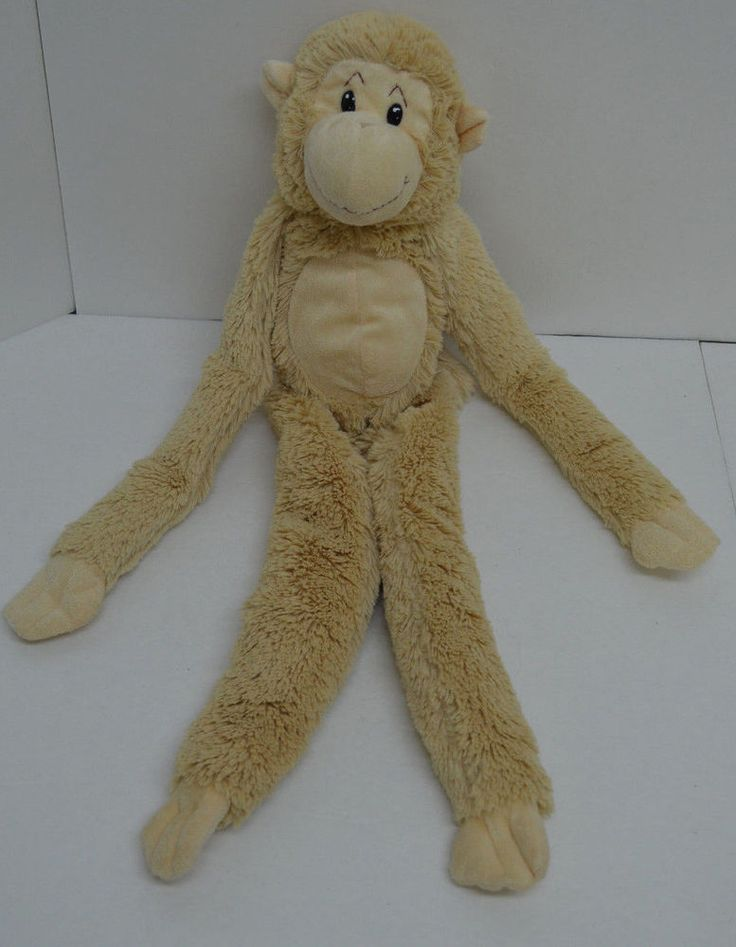 """Animal Alley Monkey Plush Beige Long Arms Legs Velcro Bean Bag 24"""" 2007 #AnimalAlley http://stores.ebay.com/Lost-Loves-Toy-Chest/_i.html?image2.x=24&image2.y=8&_nkw=animal+alley"""