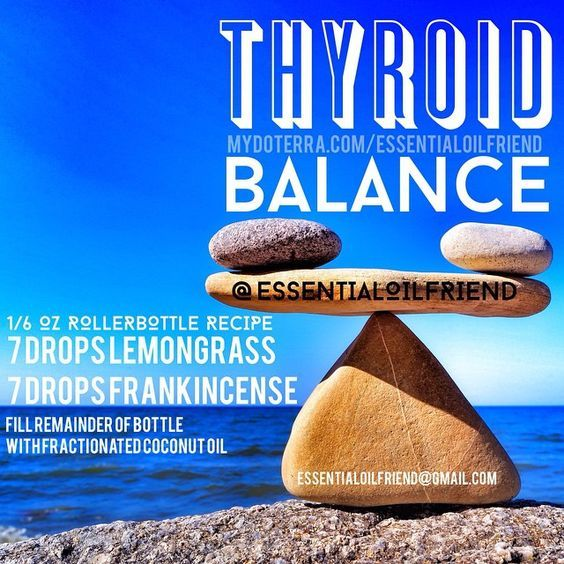 Thyroid balance Roller bottle recipe DoTERRA Plant therapy Edens garden Young living Essential oils