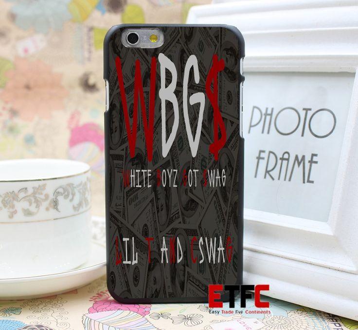 ВБ $ Дизайн ЛОГОТИПА для iPhone 6 6 7 7 Плюс Жесткий Черный Кожа Случае Крышка
