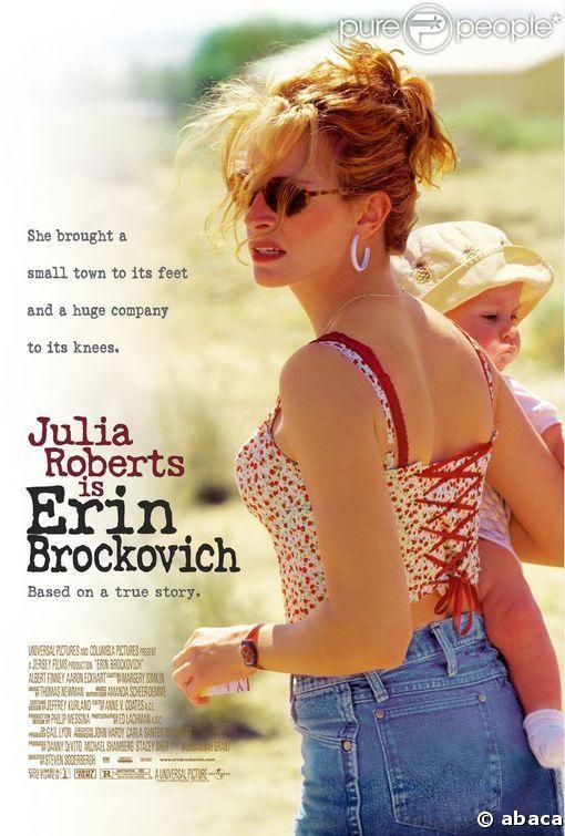 L'affiche du film Erin Brockovich avec Julia roberts