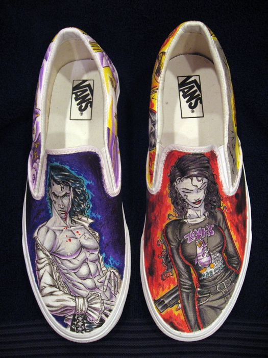 Anita Blake comic book shoes- I might not wear them  but I might still want them