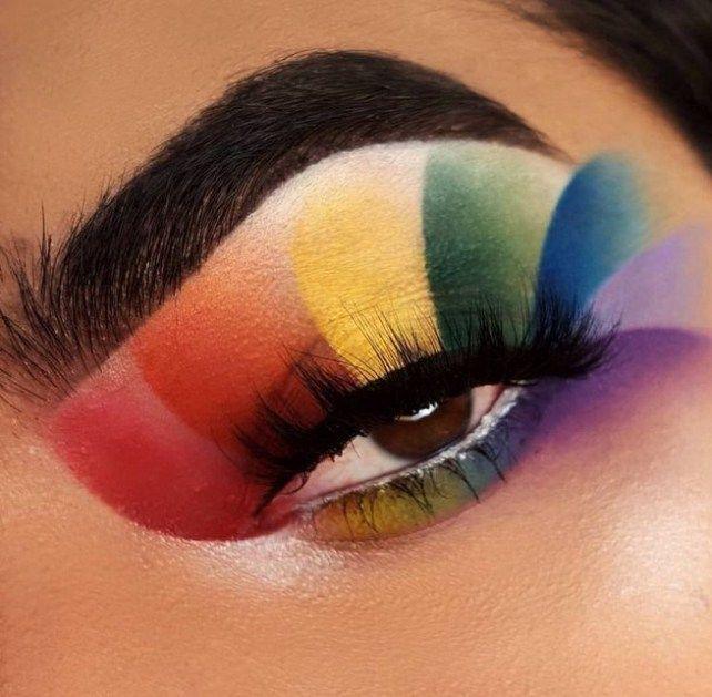 28 Pretty Rainbow Makeup Ideas Fashionable Rainbow Eye Makeup Rainbow Makeup Pride Makeup