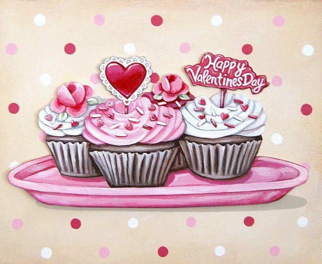 Valentine's Cupcakes print