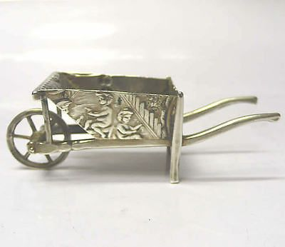 Miniature Silver Wheelbarrow